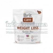 Brit Care Weight Loss Rabbit & Rice для собак с избыточным весом 1 кг