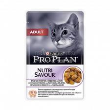 Консервы для взрослых кошек Purina Pro Plan Adult, индейка, пауч, 85 г