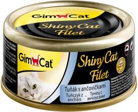 Консервы для кошек GimCat ShinyCat Filet из тунца с анчоусами