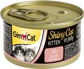 Консервы для котят GimCat ShinyCat из цыпленка