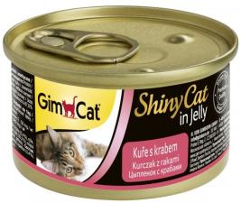 Консервы для кошек GimCat ShinyCat из курицы с крабом