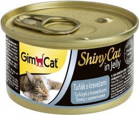 Консервы для кошек GimCat ShinyCat из тунца с креветками (паштет)