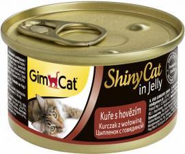 Консервы для кошек GimCat ShinyCat из цыпленка с говядиной (паштет)