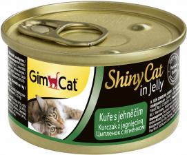 Консервы для кошек GimCat ShinyCat из цыпленка с ягненком (паштет)