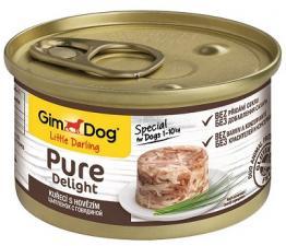 Консервы для собак GimDog Pure Delight из цыпленка с говядиной (желе)