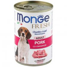 Monge Dog Fresh Chunks In Loaf