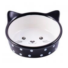КерамикАрт мордочка кошки черная в горошек