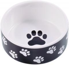 КерамикАрт для собак черная с лапками