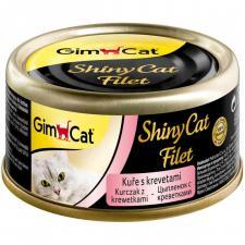 GimCat Shiny Cat Filet консерва цыпленок