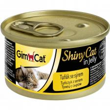 GimCat Shiny Cat Консерва в желе Тунец