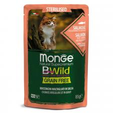 Monge Cat BWild GRAIN FREE (лосось с креветками и овощами), 85г