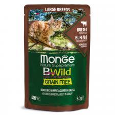 Влажный корм для кошек крупных пород (буйвол с овощами), 85г