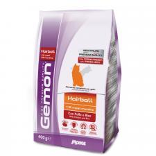 Gemon Cat Hairball корм для выведение шерсти для взрослых кошек с курицей и рисом