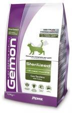 Корм для стерилизованных кошек  Gemon Cat Sterilised с индейкой