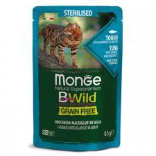 Monge Cat BWild GRAIN FREE (тунец с креветками и овощами), 85г