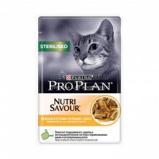 Консервы Purina Pro Plan для стерилизованных кошек и кастрированных котов, курица, пауч, 85 г