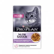 Влажный корм для кошек Purina Pro Plan Delicate с чувствительным пищеварением, (индейка), 85 гр.