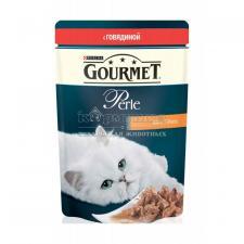 Консервы для кошек Purina Gourmet Perle, говядина, пауч, 85 г