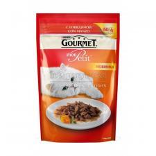 Консервы для кошек Purina Gourmet Mon Petit, говядина, пауч, 50 г