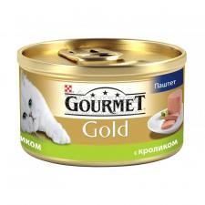 Консервы для кошек Purina Gourmet Gold, кролик, банка, 85 г