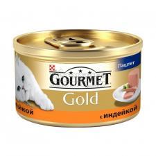 Консервы для кошек Purina Gourmet Gold, индейка, банка, 85 г
