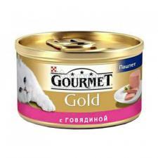 Консервы для кошек Purina Gourmet Gold, говядина, банка, 85 г