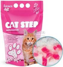 """Cat Step """"Сакура"""" наполнитель силикагелевый 3,8л."""