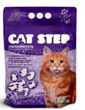 """Cat Step Силикагель """"ЛАВАНДА"""" наполнитель для кошачьих туалетов с ароматом лаванды"""