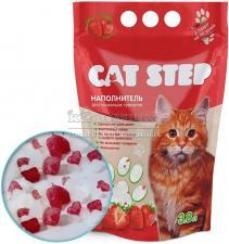 Cat Step Силикагель наполнитель для кошачьих туалетов с ароматом клубники