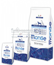 MONGE SUPERPREMIUM DOG MEDIUM PUPPY & JUNIOR