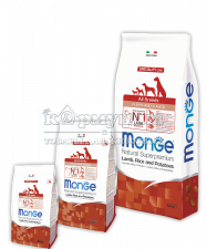 MONGE SPECIALITY LINE PUPPY&JUNIOR ALL BREEDS LAMB, RICE AND POTATOES