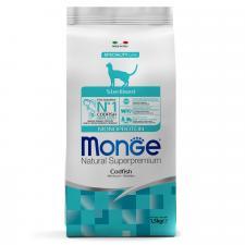 Monge Cat Monoprotein Sterilised Merluzzo (треска)