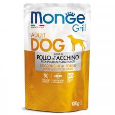 Monge Dog Grill Pouch (кусочки курицы с индейкой), 100 г