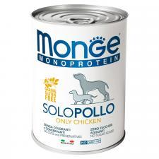 Monge Dog Monoprotein Solo паштет (курица), 400 г