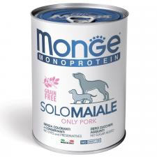 для собак Monge Dog Monoprotein Solo паштет (свинина)