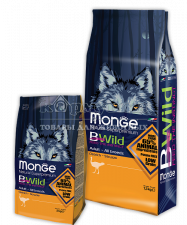Monge BWild Dog Adult Ostrich