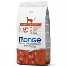 Корм для пожилых кошек Monge Cat Senior (курица), 1.5 кг