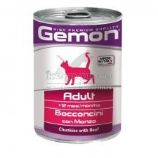 Консерва Gemon Cat (Кусочки говядины), 415 г