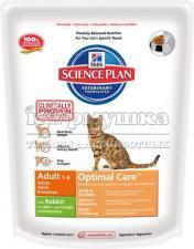 Сухой корм HILL'S Science Plan Optimal Care для кошек, кролик