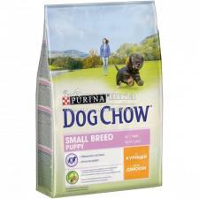 Сухой корм Purina Dog Chow для щенков мелких пород, курица, пакет