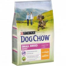 Сухой корм Purina Dog Chow для взрослых собак мелких пород, курица, пакет