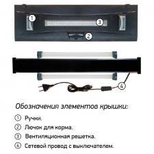 """Аквариум прямоугольный с крышкой """"ОПТИМА"""" 200 литров"""
