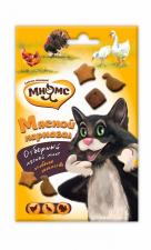 """Лакомство для кошек Мнямс, микс """"Мясной карнавал"""" (утка, индейка, курица), 50 гр."""