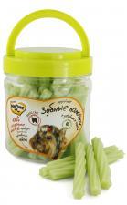Лакомство для собак Мнямс крученые зубные палочки с зеленым чаем, 340 гр.