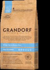 Корм для собак всех пород GRANDORF (белая рыба с рисом)