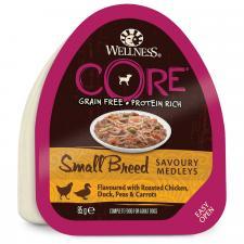 Wellness CORE Small Breed консервы для собак мелких пород аппетитное попурри из курочки и утки, запеченных с горошком и морковью